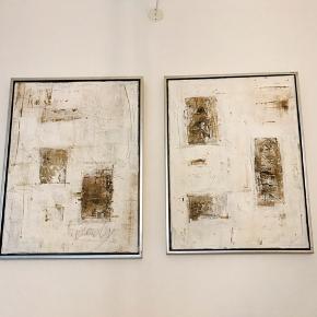 2 flotte abstrakte malerier Mål: 83cm x 63,5cm