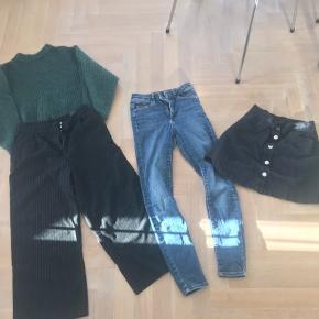 Monkey xs bukser - sorte m striber - sort nederdel denim sort - grøn lækker strik alt i xs  Calvin Klein xs / 176 sweat kjoler en sort en grå