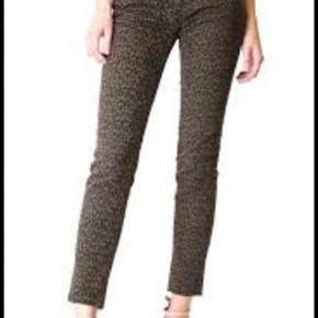 Lækre bukser i leopard med bånd langs siden - fin stand