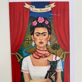 Frida Kahlo kort, kan også sendes for 10kr med post nord på eget ansvar.