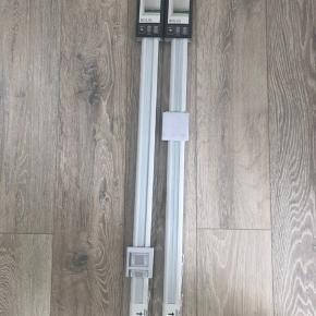 Plissegardiner 90x130 m mørklægning i hvide, det er med flex funktion.  De er købt af en bruger på dba, men har desværre aldrig fået dem brugt grundet forkerte mål.  70kr stk