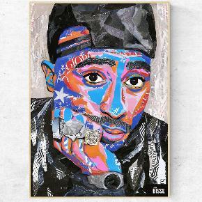 Tupac shakur collage. Laver ud fra magasiner og gamle papirsamlinger. Sælges som plakat. Kan forudbestilles nu!  @artbybisse / fb: art by bisse