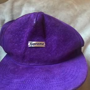 Ægte suprême cap i velour lilla💜  Køber betaler fragt:))