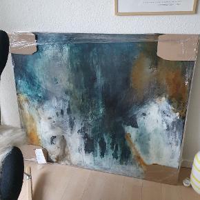 Originalt nyt maleri, klar til afhentning. Mål 120 x 100  2700
