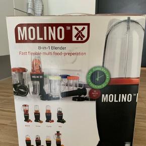 Ny bullet blender fra Molino, der kan lave alt fra puré til frisk juice - brugt max 3 gange og fejler intet, kan hentes i Kbh