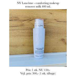 NY Lancôme - comforting makeup remover milk 400 ml.   Pris: 1 stk. NU 150,-  Vejl. pris: 300,- (1 stk. tilbage)