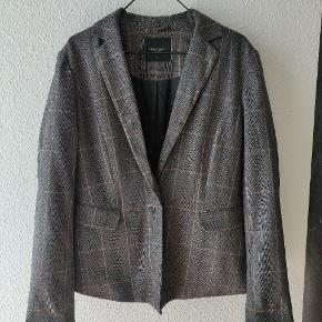 Free/quant blazer Bella checkered  Str s Grå blå beige  Polyester/viscose/elastan
