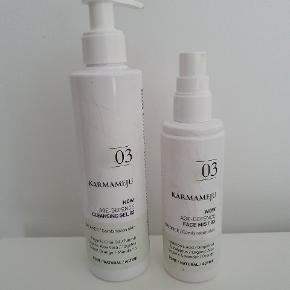Cleasing gel og Face mist fra Karmameju.  3/4 tilbage i dem begge.  Sælges samlet.