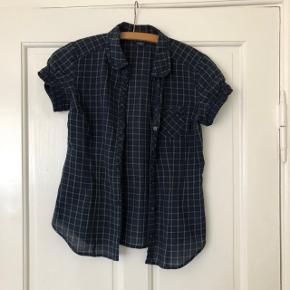 Retro / vintage skjorte i str xxs - xs. Blå / grøn