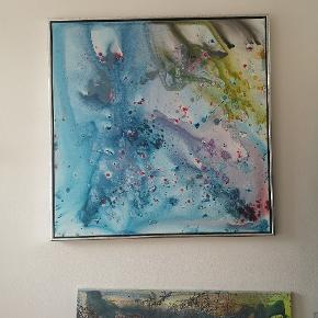 Maleri 1 x 1 meget Akryl på hørlærred Kan leveres i København og omegn