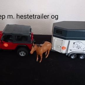 Bruder Jeep med trailer og hest Hentes Nørregårdsparken eller Midtbyen Esbjerg