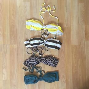 Bikinitoppe 20kr stk ☀️ alle i str 36, undtagen den grønne. Underdel haves til sort og hvid stribede