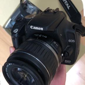 Kamera Canon EOS 350D  Kamera fungerer meget fint 800kr BYD gerne