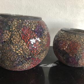 2 Mosaik fyrfads stager fra Lisbeth Dahl 1 str fra SIA de er så flotte med lys i