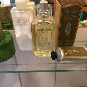 Parfume og håndcreme med citrusduft (næsten ikke brugt) fra l'occitane og lækker body lotion crabtree & evelyn sælges samlet eller hver for sig (pris er for samlet, men byd evt på enkelt)