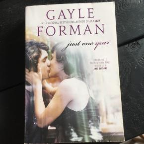 """Sælger bogen """"Just one year"""" af Gayle Forman"""