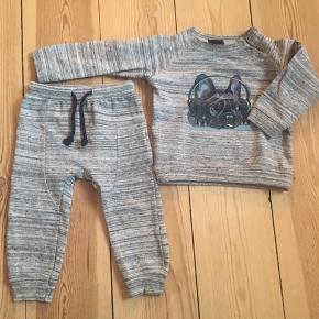 Sweatshirt og bukser.