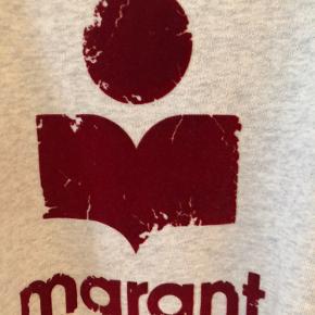 Milly sweatshirt.  Ecru med bordeaux velour print.  Længde 70 cm Brystvidde 55 cm Fransk str. 44 (42)