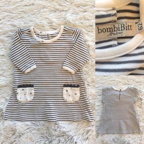BombiBitt kjole i str. 62 Helt ny kun vasket så blød med fine detaljer (nypris 199 kr).   Sender selvfølgelig gerne hvis du betaler porto.
