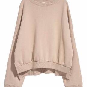 Beige oversize sweatshirt fra H&M