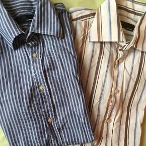 2 skjorter fra Bertoni - brugt en smule, men fremstår rigtig pæne! Sælges, da de desværre er købt for små. Prisen er pr. stk. Tag dem begge for 80,- Skal blot stryges :)