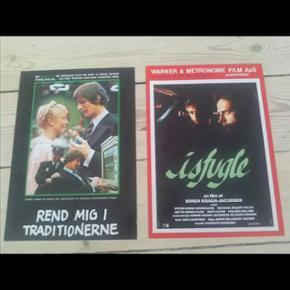 2 små originale filmplakater 21 x 29 cm Rend mig i traditionerne Isfugle