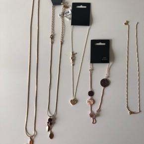 Blandet halskæder i forskellige mærker, materialer og længder. Sælges samlet eller hver for sig. Byd 😊