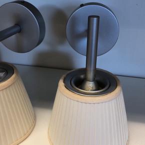 2 fine væglamper model: Flos Romeo Babe soft W designet af Philippe Starck. Mener at vi gav 1200 kr pr stk. på tilbud.