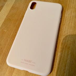 Iphone xs max silicon case (blush pink) full cover top and buttom