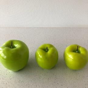 3 æbler i stearin