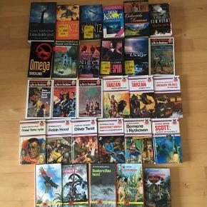 Sælger alle disse bøger. Sælger dem for 10kr pr stk. Se titlerne og forfatterne på billederne. Kommer fra et ikke ryger hjem. Afhentes i 2990 Nivå eller sendes mod betaling.