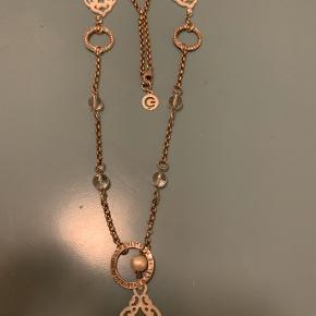 Celine engelstadt lang sølvkæde stemplet 925  med perler , crystaller og glaskugler