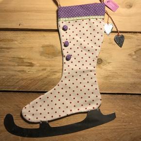 Super sød jule sok med skøjte Ny fra ASPEGREN  Sød og elegant juleskøjtesok 🎅🏼🎄 33 cm x 29/14 cm