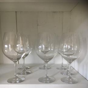 8 rødvinsglas i fin stand