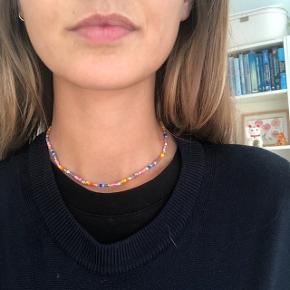 Perle halskæde Multifarvede perler Lås Forgyldt messing 💮Prisen er fast og inkl Porto med postnord