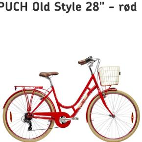 "Ny cykel (fra Bilka), min farmors - aldrig brugt. Nypris 2.799 kr. 28"" - fint retro design, mærke: Puch"
