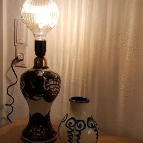 Gammel kähler lampe. Virker som den skal. Måler Ca 33 cm Mindstepris 1000 kr