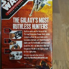 Udvidelse til Star Wars Pocketmodel Trading Card Game. Indeholder 6 exclusive modeller og 30 kort.  Passer til andre Star Wars Pocketmodel Trading Card spil.   Se vores andre annoncer, hvor vi også har flere starterspil til salg
