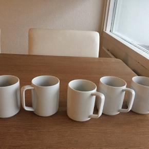 Hvidpot kaffekrus . Brugt få gange som nye . 5 stk 200kr hentes i Brøndby .