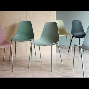 6 spisebordsstole fra Søstrene grene i grøn.