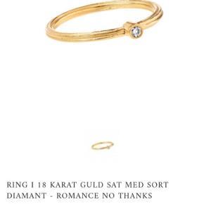 Ringen er med lys diamant
