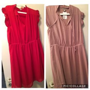 2 nye kjoler str 48 aldrig brugt. Prisskilt på den røde er pillet af prisen er for begge