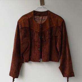Vintage ruskinds jakke i str L