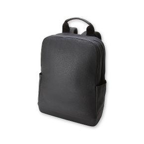 MOLESKINE rygsæk i sort læder.
