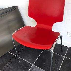 6 fine stole, træ/stål ben