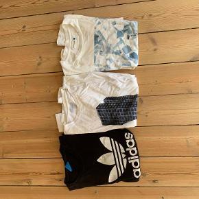 Tre t-shirts til salg. Sælges for 50 kr + fragt. Soulland Wood Wood Adidas