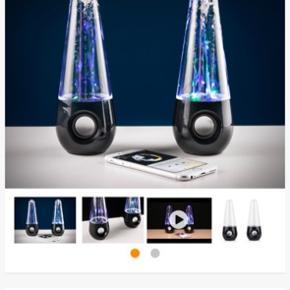 Sælger disse Bluetooth water dancing speakers. Brugt 3-4 gange.