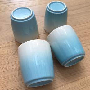 Lækre kopper fra &K Amsterdam. 7 stk i alt, dog har 3 stk skår. 100kr for alle 7.