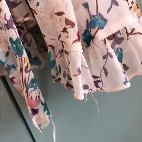Superfin bluse fra ICHI ✨  Der ses nogle små tråde lidt rundt omkring på blusen, men er ellers i så fin en stand (se billede 2) ✨