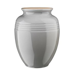 Le Creuset vase i grå, 19 cm.  Helt ny og ubrugt i original æske. Skal afhentes - sender ikke.